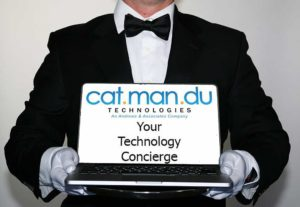 CatManDu Technology Concierge sign